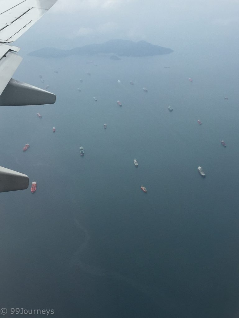 Warteschlange am Panamakanal